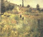 path climbing through long grass by pierre auguste renoir painting