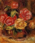 roses in a vase 2 by pierre auguste renoir paintings