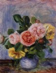 roses in a vase 3 by pierre auguste renoir paintings