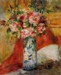 roses in a vase 4 by pierre auguste renoir paintings