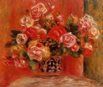 roses in a vase 5 by pierre auguste renoir paintings