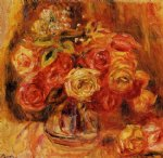 roses in a vase 6 by pierre auguste renoir paintings