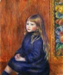 pierre auguste renoir seated child in a blue dress ii painting