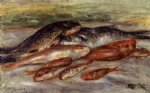 pierre auguste renoir still life with fish ii painting
