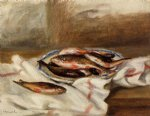 pierre auguste renoir still life with fish painting