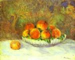 pierre auguste renoir still life with peaches painting 82844