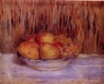 pierre auguste renoir still life with pears and grapes paintings
