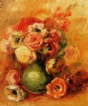 pierre auguste renoir still life with roses painting-26267
