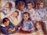 studies of the children of paul berard by pierre auguste renoir paintings