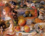 landscapes acrylic paintings - studies woman s heads nudes landscapes and peaches by pierre auguste renoir