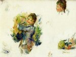 study for girls playing with a shuttlecock by pierre auguste renoir painting