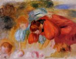study for the croquet game by pierre auguste renoir painting