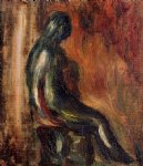 study of a statuette by maillol by pierre auguste renoir painting