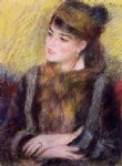 study of a woman ii by pierre auguste renoir painting