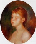 study of a young girl by pierre auguste renoir painting