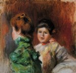 study two women s heads by pierre auguste renoir painting