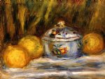 sugar bowl and lemons by pierre auguste renoir paintings