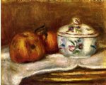 sugar bowl apple and orange by pierre auguste renoir paintings