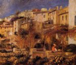 terraces at cagnes by pierre auguste renoir painting