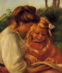 the alphabet by pierre auguste renoir painting