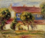 the artist s house by pierre auguste renoir painting