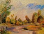 the banks of the river ii by pierre auguste renoir painting