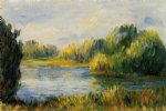 the banks of the river by pierre auguste renoir painting