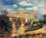 the banks of the seine at argenteuil by pierre auguste renoir painting