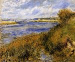 the banks of the seine at champrosay by pierre auguste renoir painting