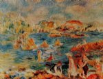 pierre auguste renoir the beach at guernsey paintings-26320