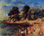 pierre auguste renoir the beach at purnic paintings-26321