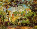 the building of sacred heart by pierre auguste renoir painting
