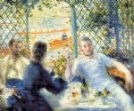 the canoeist s luncheon by pierre auguste renoir painting