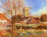 pierre auguste renoir the church at essoyes painting