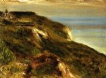pierre auguste renoir the church at varengeville and the cliffs painting