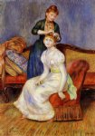 pierre auguste renoir the coiffure ii painting