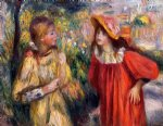 pierre auguste renoir the conversation painting