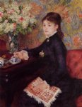 pierre auguste renoir the cup of chocolate painting