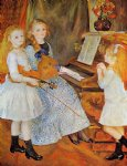 pierre auguste renoir the daughters of catulle mendes painting