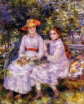 pierre auguste renoir the daughters of paul durand painting