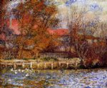 the duck pond by pierre auguste renoir painting