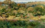pierre auguste renoir the edge of the forest in brittany paintings