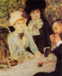 the end of lunch by pierre auguste renoir painting