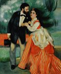 the engaged couple by pierre auguste renoir painting