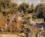 the garden at fontenay by pierre auguste renoir painting