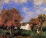 the garden of essai in algiers by pierre auguste renoir painting
