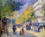 the great boulevards by pierre auguste renoir painting