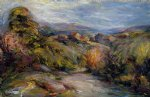 the hills of cagnes by pierre auguste renoir painting
