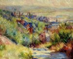 the hills of trouville by pierre auguste renoir painting