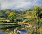 the laundress by pierre auguste renoir painting